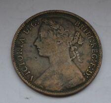 1877 British one Penny VICTORIA D:G: BRITT:REG:F:D: Coin