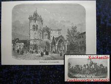 GUIMARAES Guimarães PORTUGAL. Originaler Holzstich 1880