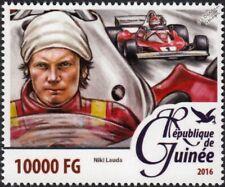 NIKI LAUDA Ferrari Formula One F1 GP Race Racing Car Driver Stamp (2016)