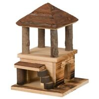 Natural Living Sten House, Flamed 15 × 25 × 16cm - Trixie House Wood Hamster