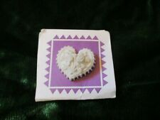 """1995 Margaret Furlong New in Packaging Heart Shaped Pin about 3/4"""""""
