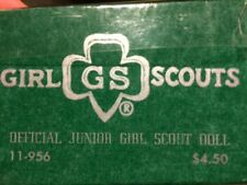 """1960s Official Black Junior Girl Scout Vintage Doll in original box Effanbee 8"""""""
