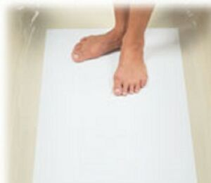 DISPOSABLE HYGIENIC BEAUTY SALON PAPER FLOOR MATS- IDEAL FOR SPRAY TANNING SHOPS