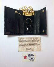 Gary's Leather California 6 Hook KEYCASE Black Calf Leather - USA made nwt/nib
