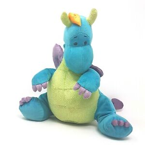 "Gund Kids Scales 'n Tails Jiggy Blue Dragon Plush 11"" Soft Stuffed Animal Toy"