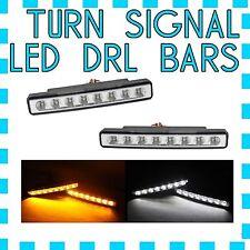 Maserati White  LED DRL Light + Amber Turn Signal Marker- FREE USA SHIPPING