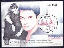 Spain 2000 MNH SS, Odd Round Stamp, Music, Signature (K115)