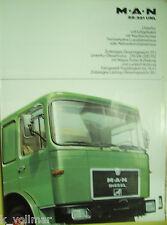 ✪altes Original LKW/Truck Prospekt MAN 22.321 UNL Unterflur voll-luftgefedert