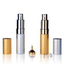 Vintage Set 2 Spray Perfume Bottle Atomizer Cut Travel Glass Empty Bottles Refil