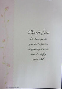PACK OF 20 PINK THANK YOU NOTES WITH MATCHING ENVELOPES - 225mm x 155mm