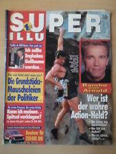 SUPER ILLU 33 - 12.8. 1993 Sylvester Stalone Arnold Schwarzenegger