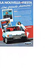 PUBLICITE ADVERTISING  1983   FORD  FIESTA  la nouvelle petite