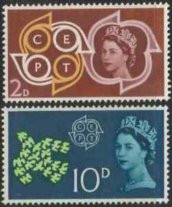 (GB12A)GREAT BRITAIN UNITED KINGDOM 1961 POSTAL CONFERENCE 2d & 10d MNH.