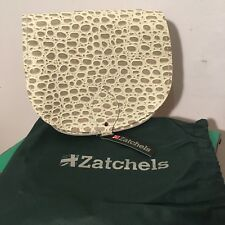 Zatchel Grey Snake Skin Cross Body Leather Saddle Bag BNWT Handmade in the U.K.