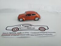 Maisto VW Beetle Orange 1:64 - Chopped with Real Riders