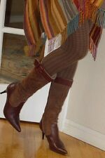 VTG Fonarina ITALY Brown SUEDE Leather Pointy toe boots 39 / 8 1/2