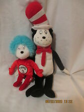 """Cat in the Hat Plush 21"""" Tall Kohl's Thing 2 Universal Studio 12"""" tall Lot of 2"""