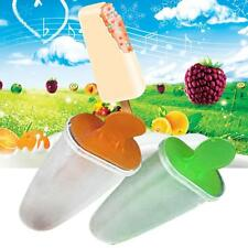 6 Cell Kitchen Frozen Ice Cream Pop Mold Popsicle Maker Lolly Mould Tray Pan BG