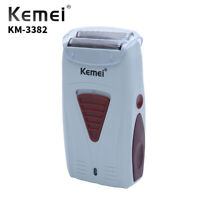Kemei Electric Shaver Twin Blade Cordless Wet Dry Razor USB Rechargeable Trimmer