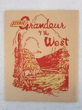 SCENIC GRANDEUR OF THE WEST 16 Colored Views 1943 Southern Pacific Lines
