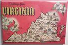 Greetings From Virginia Vintage Card 2' x 3' Refrigerator Locker MAGNET