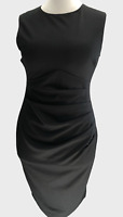 Womens/Ladies NEW Bodycon Black Dress Miss Selfridge Ruched waisline Size8-10-14