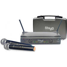 Stagg SUW50 FH 2 Channel Wireless Twin Handheld Microphone System
