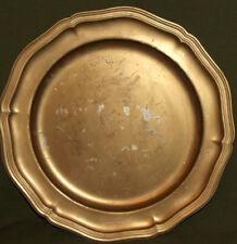 Vintage metal platter tray plate