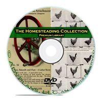 900+ Books Homesteading Collection, Survival, Farming, Raising Chickens DVD B66