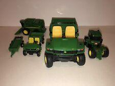 JOHN DEERE Lot of 4 Vehicles Metal Plastic TRACTOR Truck Trailer + GUC ERTL