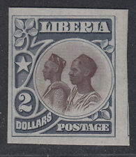 Liberia # 112 Gray & Brown Color Trial on Card Mandingos MINT (no gum as always)