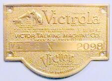 vIntage* RCA VICTOR RADIOLA 20 / VICTROLA VE 7-3 X:  VICTROLA TAG & orig NAILS