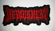 DEVOURMENT  SHAPED   RED  LOGO   EMBROIDERED PATCH