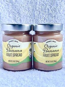 2 Jars - Trader Joe's Organic Banana Fruit Spread Jam 10 oz Each x Lot 2
