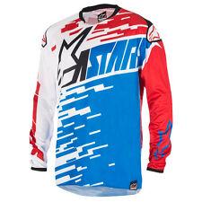 NEU Alpinestars Racer Braap Cross Shirt blau weiss rot Gr. XL = 54 statt 39,95 €