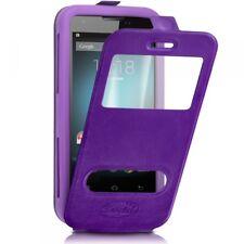 Etui Coque Silicone S-View violet Universel XL pour Xiaomi Mi A2 Lite