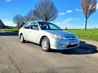 2004 53 Honda Civic 1.3 IMA Executive 55k HYBRID  FSH  £30 TAX  PX