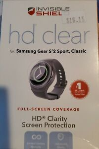 ZAGG InvisibleShield HD Clear Screen Protector for Samsung Gear S2 Sport Classic