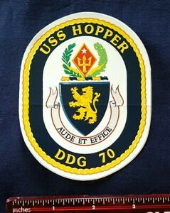 USS Hopper DDG-70 Guided Missile destroyer Navy Ship Crest DECAL STICKER