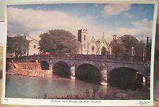Irish Postcard SALMON WEIR BRIDGE River Corrib Galway Ireland Dollard 302 4x6