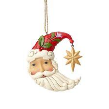 Jim Shore Hartwood Creek Crescent Moon Santa Ornament New 2018