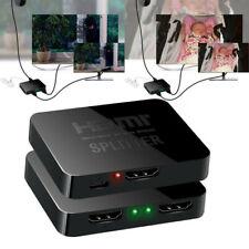 Premium HDMI 1In 2Out 1080P 4K HDCP Stripper Splitter Power Signal Amplifier 3D