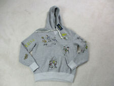 NEW Ralph Lauren Polo Sweater Adult Small Gray Yellow Football Yale Hoodie Mens