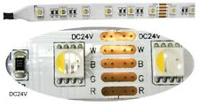 5m 24V LED Streifen 4 in 1 RGBW RGB+Warmweiss IP65 Strip 19.2W/m 300leds Dimmbar