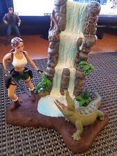 Lara Croft Tomb Raider Action Figure + Diorama Waterfall Crocodile Collectible