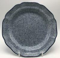 "Stone Works Light Blue by Mikasa 8"" Salad Plate CX525 Sponged Blue w/ Blue Trim"