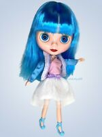 Neo Blythe Clone Factory Doll Icy 12 Inch Blue Hair With Clothes And Shoes