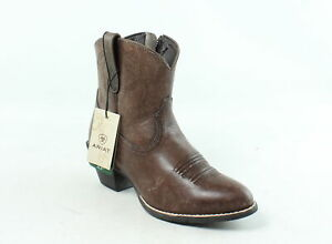 Ariat Womens Darlin Naturally Distressed Brown Cowboy, Western Boots Size 6