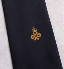 QUEEN'S AWARD EXPORT TIE VINTAGE RETRO NAVY GOLD CREST 1980s 1990s BY CRESTEX