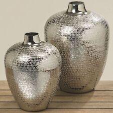 Dekovase Detroit Alu Silber Blumenvase Boltze Dekoration Modern Design Edel  Vase